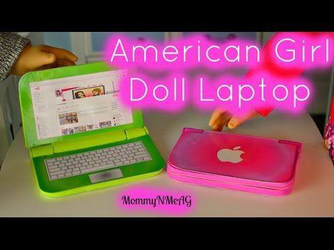 DIY American Girl Doll Laptop | Mini Apple Macbook Air - YouTube