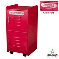 Kidkraft Personalized Kids Storage Locker - Red | kids rooms ideas