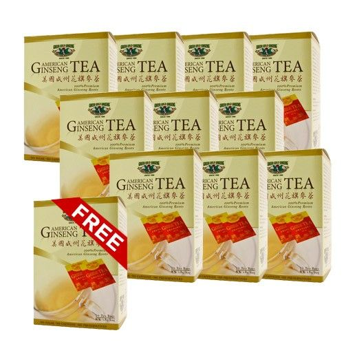 American Ginseng Tea 20 Bags Box 11 Boxes Bundle Buy 10 Get 1 Free