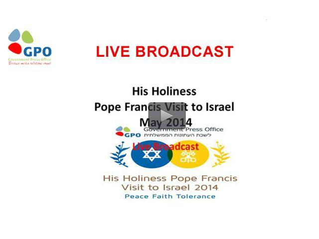 LIVE broadcast Pope Francis visit