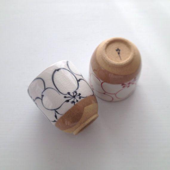 SALE Handmade Japanese Ceramic Cups // Tea Cups // Japanese Pottery via Etsy