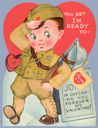I want all these military vintage valentines!