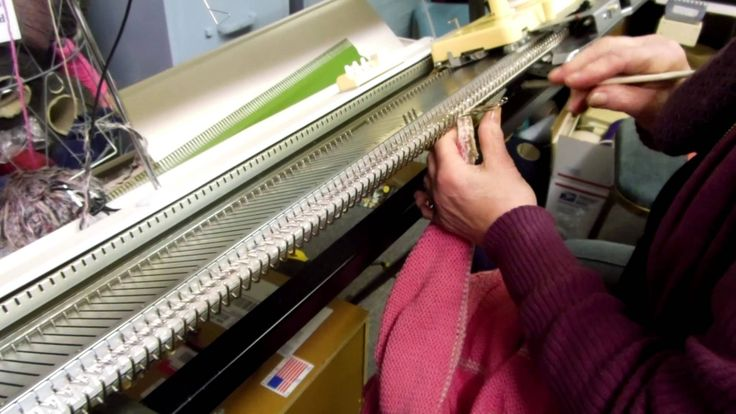 Machine Knitting Experiences: Raised Diagonal Half-Cable Trim (part 2) b...