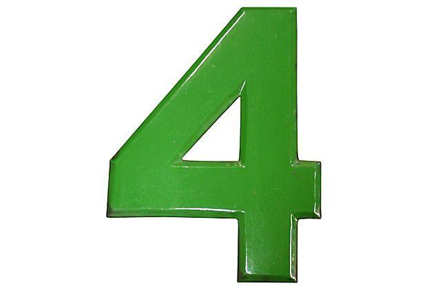 Green Enamel Number 4