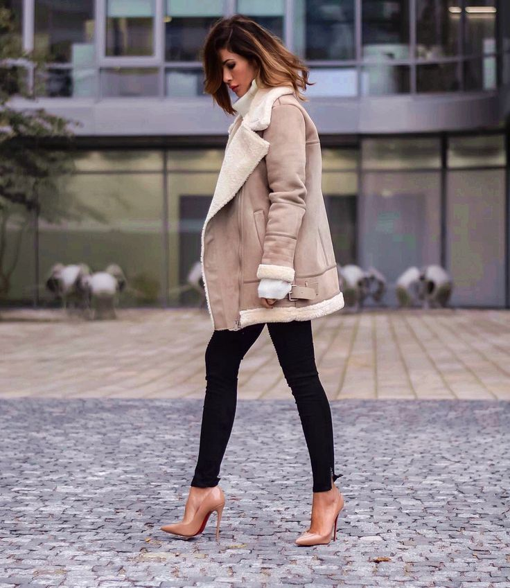 Fall street chic with aviator jacket, skinny jeans and Louboutin shoes. hunting for limited offer,no duty and free shipping.#shoes #womenstyle #heels #womenheels #womenshoes  #fashionheels #redheels #louboutin #louboutinheels #christanlouboutinshoes #louboutinworld