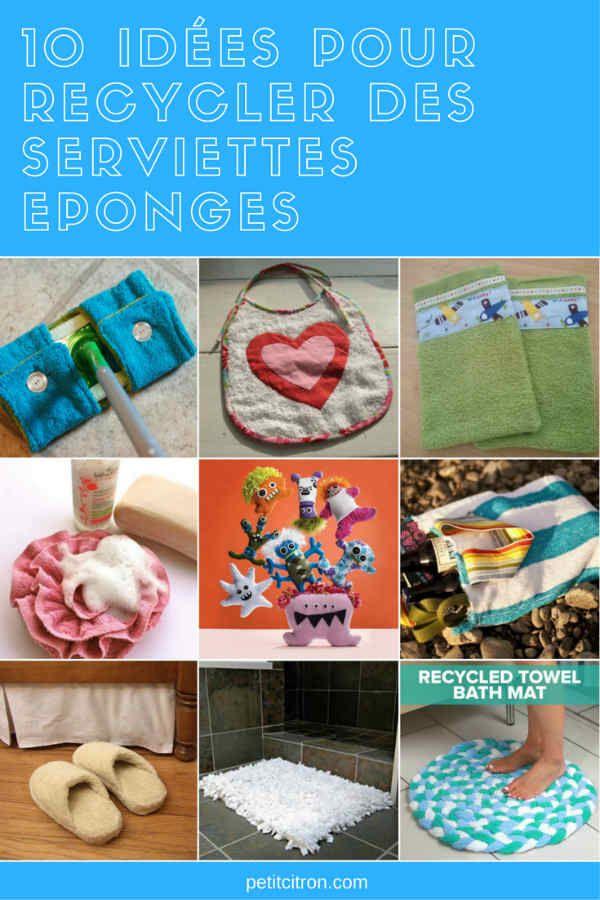 10 idées pour recycler des serviettes de bain - Avez-vous des serviettes à recycler?