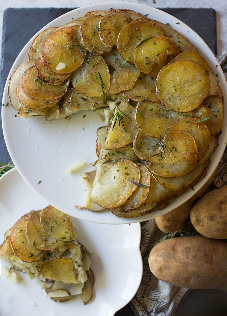 A potato galette is a classic French dish that looks fancy, but couldn't be simpler to make. Three ingredients and 10 minutes of prep is all this takes!