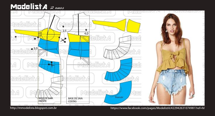 CROPPED top, patterns instructions
