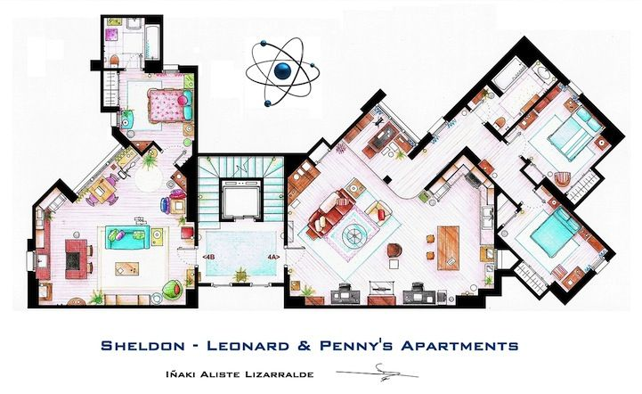Detailed Floor Plan Drawings Of Popular Tv And Film Homes