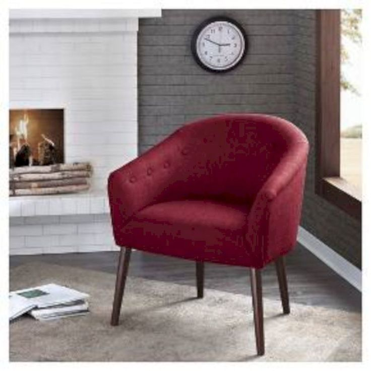 Cool 53 Modern Red Accent Chair Dining Ideas. More at https://trendecor.co/2017/09/30/53-modern-red-accent-chair-dining-ideas/