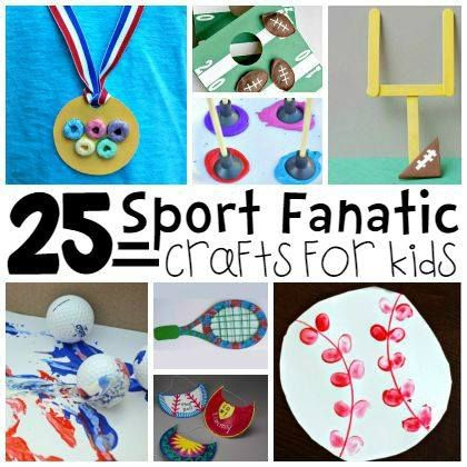 25 Sports Themed Crafts for Kids                                                                                                                                                      More