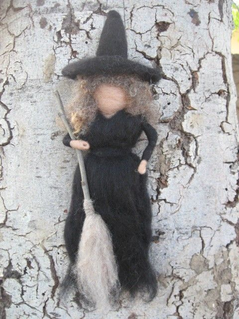 Needle Felted Waldorf (Witch) Fairytale Old Crone. $28,00, via Etsy.