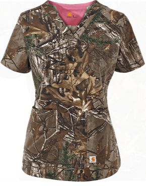 Carhartt Scrubs Women's Realtree® Camo Print Top Style # C12405RT…
