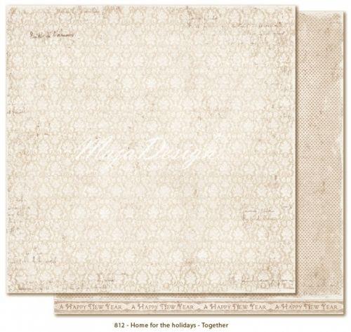 """MAJA DESIGN - HOME FOR THE HOLIDAYS 812 - TOGETHERTo-sidig mønsterark i høy kvalitet fraMAJA DESIGN - HOME FOR THE HOLIDAYS KOLLEKSJON.Størrelse 30,5 x 30,5 cm (12 x12 inches). MAJA DESIGN - HOME FOR THE HOLIDAYS COLLECTIONDouble-sided - patterned - heavyweight paper. 12x12"""" - acid & lignin free."""