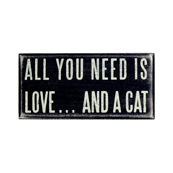 All you need is love and a cat wall art