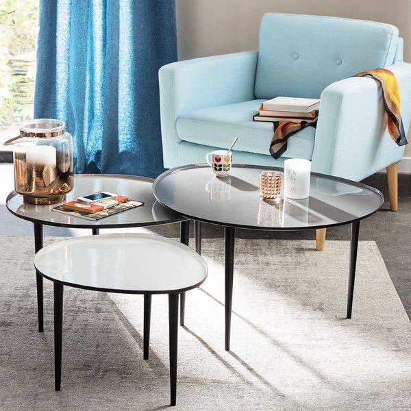 cool tables basses gigognes en galet with table basse bambou maison du monde. Black Bedroom Furniture Sets. Home Design Ideas