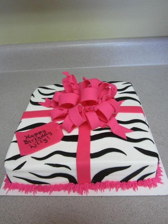 Zebra Print Birthday Cake...my daughter's name is even on ...