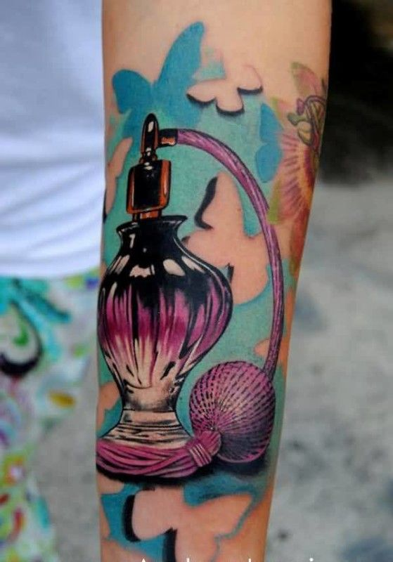 Image result for perfume bottle tattoos