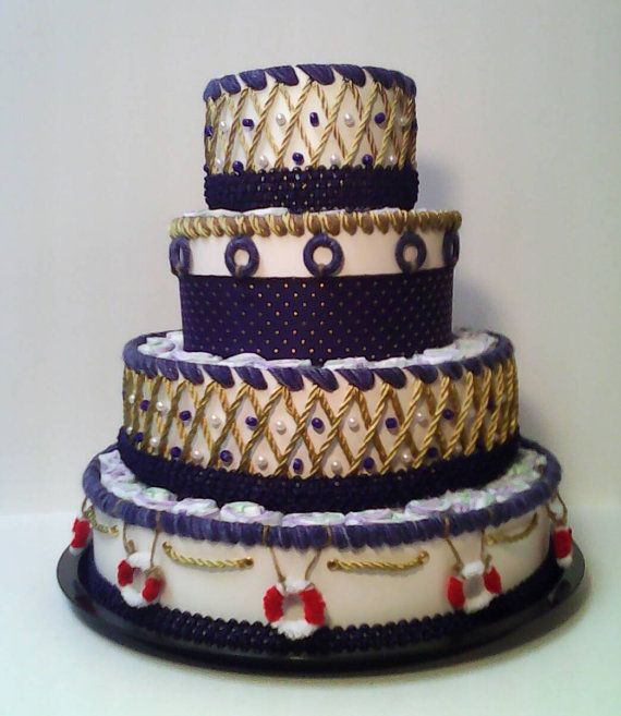 Check out this item in my Etsy shop https://www.etsy.com/listing/484333739/navy-blue-gold-and-white-nautical-4-tier