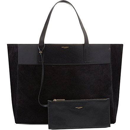 SAINT LAURENT Reversible leather and suede shopper / VV Wishlist / Vosses