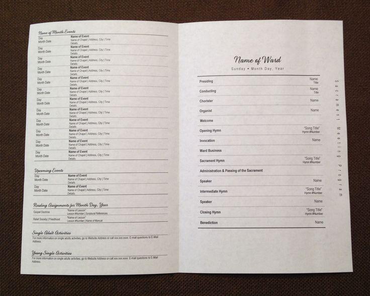 church bulletin template