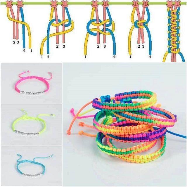 Amazing Braided Bracelet - DIY                                                                                                                                                                                 More
