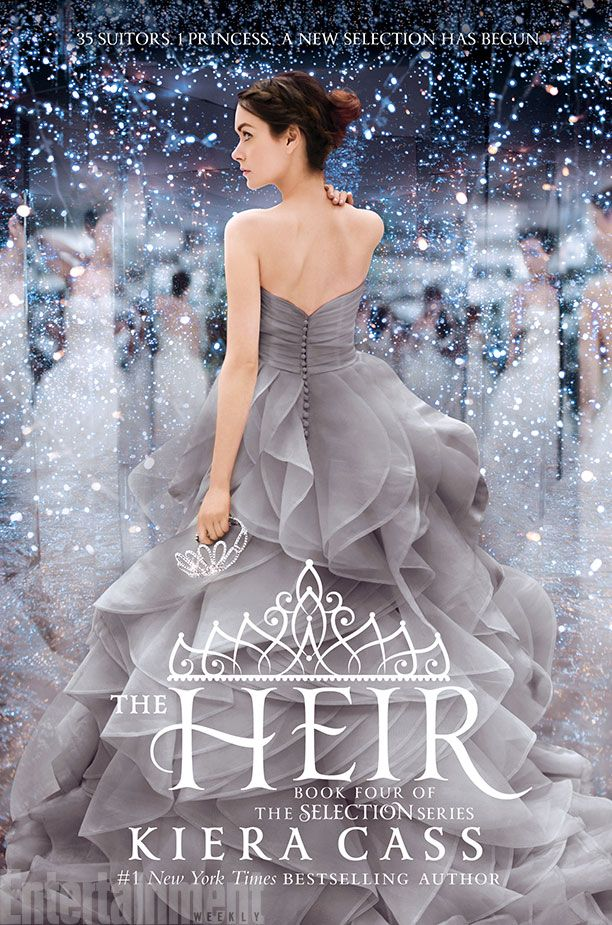 """35 Suitors. One Princess. A New Selection Has Begun."" The Cover of The Heir is so GORGEOUS!!!! ""Twenty years ago, America Singer entered the Selection and won Maxon's heart. Now the time has come for Princess Eadlyn to hold a Selection of her own. Eadlyn doesn't expect her Selection to be anything like her parents' fairy-tale love story. But as the competition begins, she may discover that finding her own happily ever after isn't as impossible as she always thought."" 