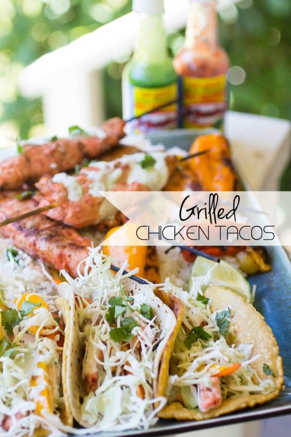 Grilled Chicken Tacos | Recipe | Tomatillo sauce, Italian pasta and ...