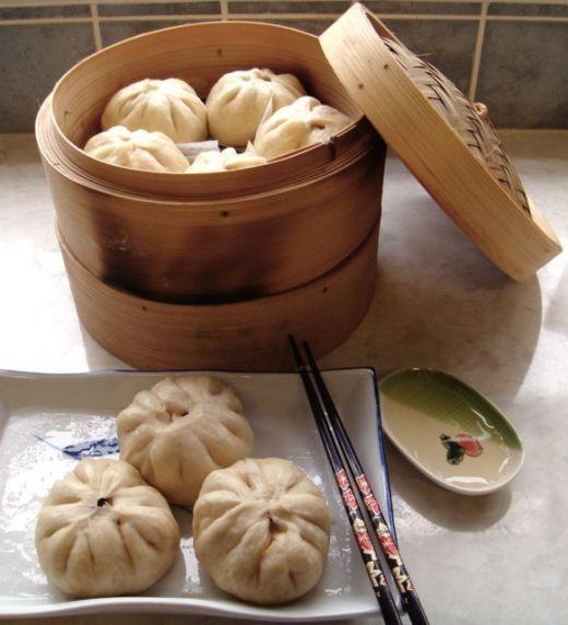 Chinese steam pork buns
