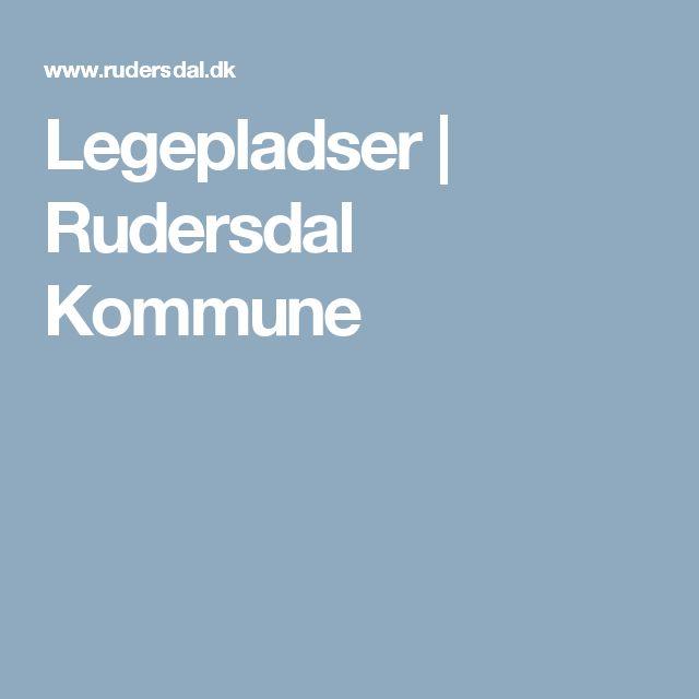 Legepladser | Rudersdal Kommune