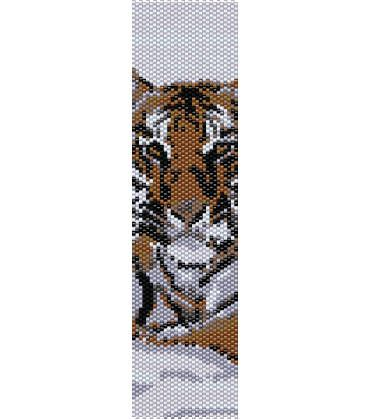 Schema peyote Tigre Siberiana sulla neve (PDF per bracciale o segnalibro) di AntosCreations su Etsy