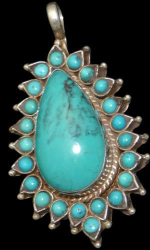 ~ Sterling Silver Vintage Turquoise Pendant...from an estate of  an Native American Jewelry Collector ~ |Pinned from PinTo for iPad|