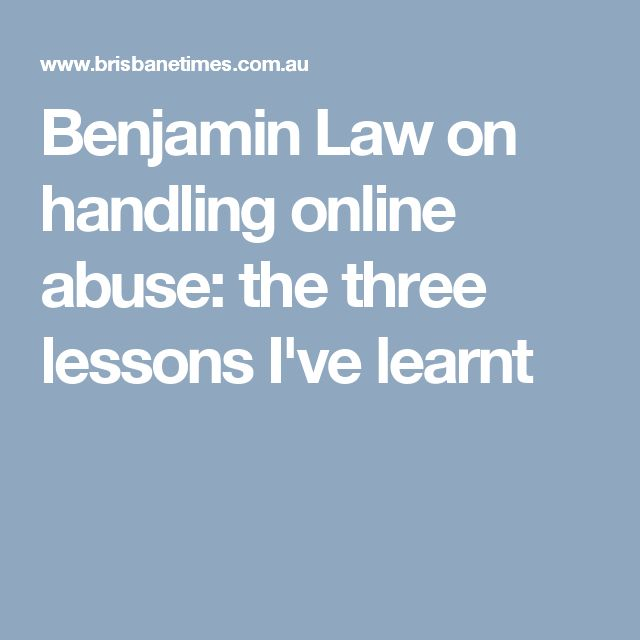 Benjamin Law on handling online abuse: the three lessons I've learnt