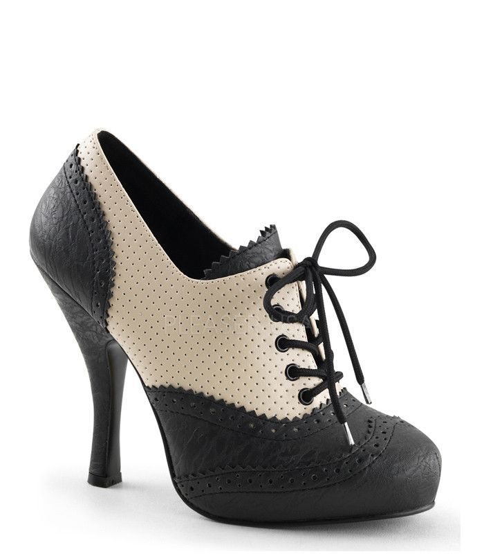 Pin Up Couture Cutiepie Spectator Lace-Up Oxford