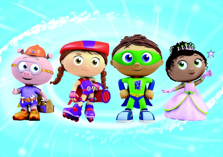 Super Why! or The Reading Adventures of Super Why! is a CGI animated show developed by Angela C. Santomero and Samantha Freeman Alpert.