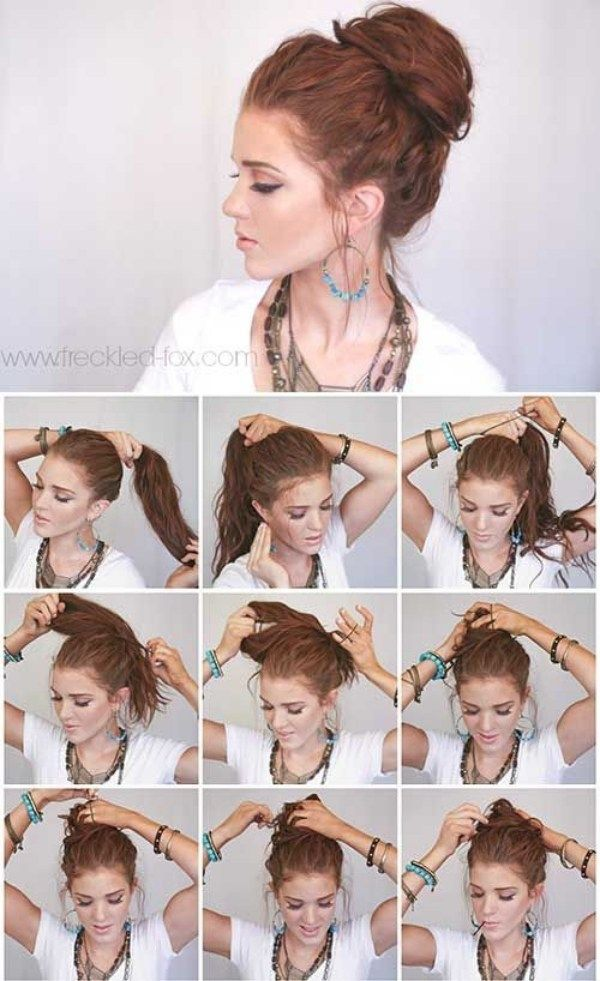 35 Instant Bun Tutorials For Last Minute Office Calls Outfitcafe Bun Hairstyles For Long Hair Messy Hairstyles Kids Hairstyles