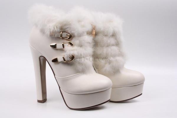 Свадебная обувь для невесты зимние