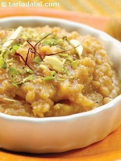 A classic recipe that is relished throughout Rajasthan. This calorie laden halwa is often prepared during the winter months, as it is supposed to keep the body warm and protect it from the bitter winter cold. It is considered to be auspicious for Holi and Diwali and it even features on wedding menus.  It takes a long time and lot of patience to sauté the dal and prepare this halwa and it will probably require a little extra ghee too. You can make a larger quantity of this recipe and store it…