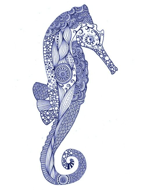 Seahorse. If anyone can find the name of the artist, please comment and let me know.
