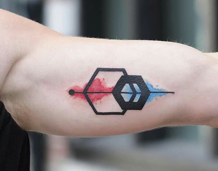 #geometric #tattoo #Watercolor