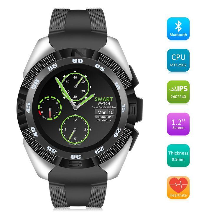 Montre Connectée Bluetooth,QIMAOO G5 Écran Tactile Smartwatch Sports Bracelet Connecté IP67 Imperméable à Eau avec Cardiofréquencemètre Podomètre Suivi de Sommeil Compatible avec Android IOS Smartphone(Noir+Gris)