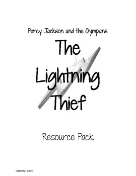 Percy Jackson and the Olympians ~ Lightning Thief Resource Pack