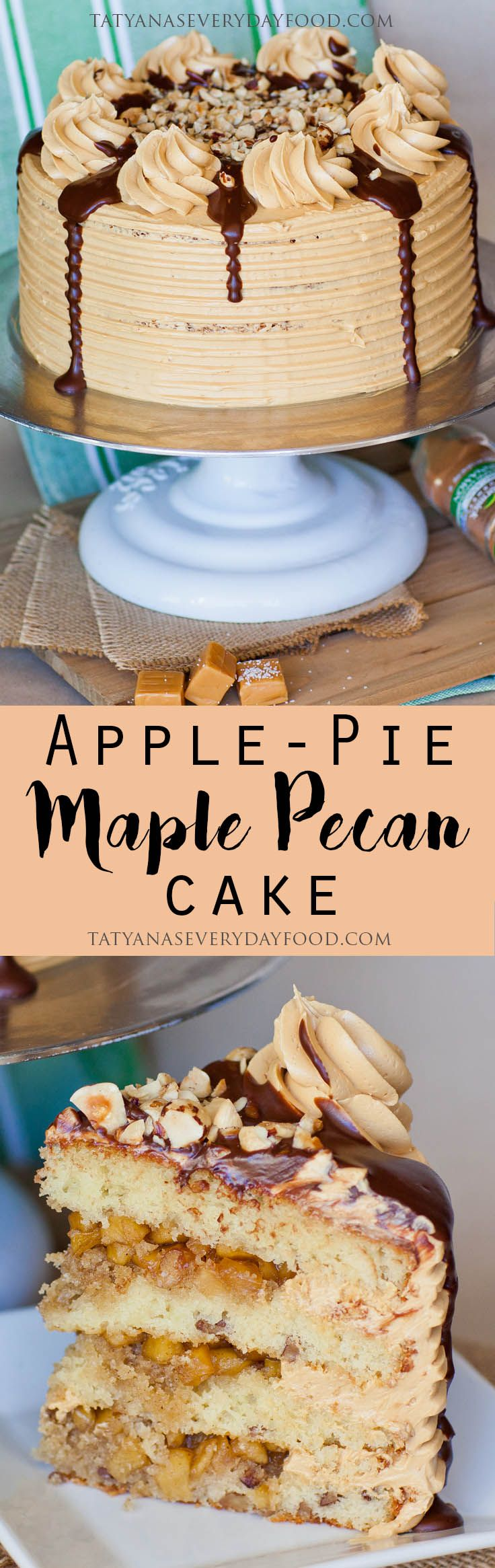 This is the ultimate fall and Thanksgiving cake! My 'Apple Pie Maple Pecan Cake' combines all the amazing flavors of fall into one spectacular cake! I add maple syrup extract and chopped pecans to vanilla cake, fill the center with an apple pie filling and frost the cake with my favorite 'Salted Caramel Frosting'. View …