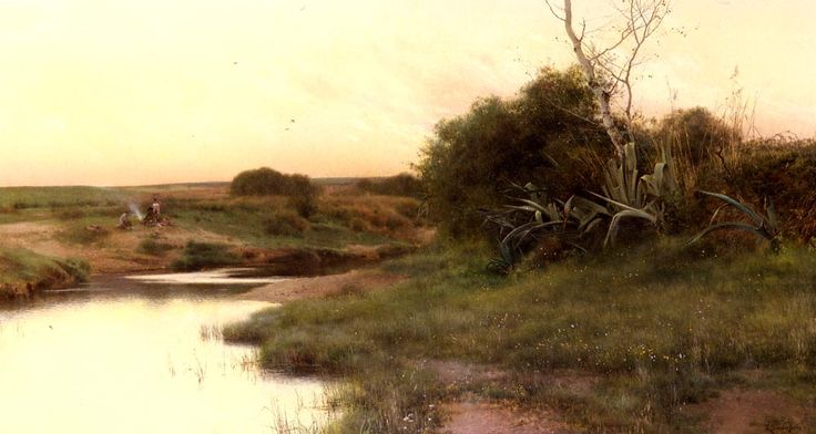 Emilio Sánchez Perrier - On The River's Edge At Dusk