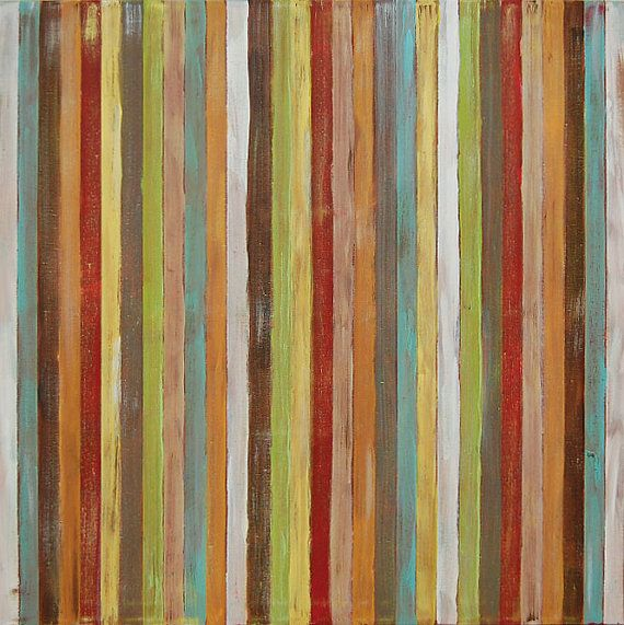 Original modern contemporary abstract stripes painting: acrylic on canvas, 30x30, by @Jason Stocks-Young Boyett: Jasonboyett, Canvas, Stripes Paintings, Abstract Paintings