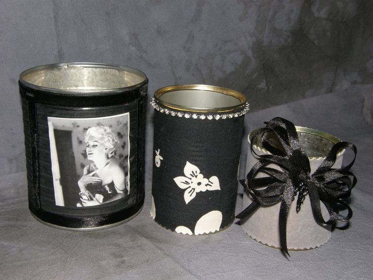 Covered cans as a xmas present - black