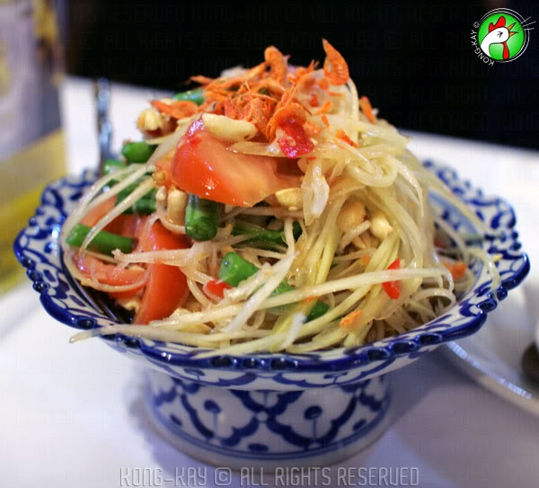 My favourite is their green papaya salad. The hot version! Authentic Thai Taste, Johnston Street, Collingwood. BYO as well.