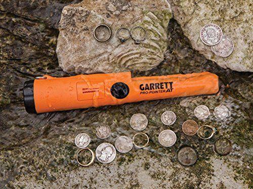 nice Garrett Pro Pointer AT Waterproof Metal Detector with Original Garrett Black Treasure Pouch