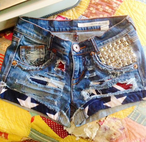 Rebel Flag Cutoff Denim Shorts. Stars Stripes Camo Southern Hunting Mudding Music Festival on Etsy, $55.00