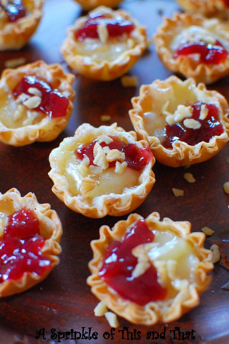 A Sprinkle of This and That: Raspberry Brie Tartlets
